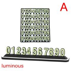 Front Windshield Temporary Parking Card Stickers Car DIY Magnet Telephone Number Plates Universal Auto Accessories