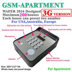 3G and GSM intercom wireless door and gate opener access controller and service help calling dc12v power input
