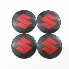 For Suzuki Swift SX4 Vitara Jimny S-CROSS Swift 2007 2008 2018 4Pcs Car Wheel Center Hub Caps Emblem Stickers Car Styling Badge