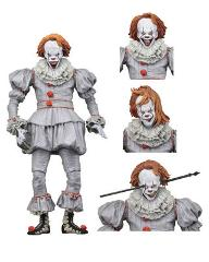 "NECA IT Pennywise The Dancing Clown 7"" Ultimate Edition Action Figure Collectible Model Toy with LED Light"