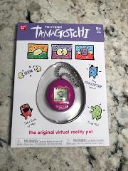 Tamagotchi Classic 2018 Gen 1 Purple W/ Pink Buttons Original Virtual Pet Bandai