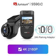 Junsun S590.P 24h Parking Monitor 4K WiFi GPS Car DVRs Dash Cam 2160P Night version Dual Lens Vehicle Recorder 1080P Rear Camera