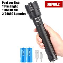 xhp90 xhp90.2 xhp70.2 Powerful USB LED Flashlight Torch Hand lamp 26650 18650 Rechargeable Tactical Flashlight