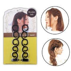 Lady French Hair Braiding Tool Weave Braider Hair Twist Styling Tools DIY Bun Maker Hair Band Accessories Makeup hair curler
