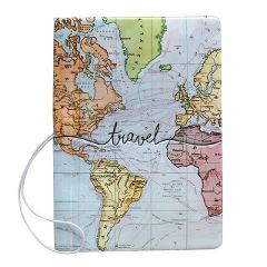 Creative World Map Passport Cover Wallet Bag Letter Men Women Pu Leather Id Address Holder Portable Boarding Travel Accessories