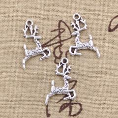 15pcs Charms Christmas sika deer 22x14mm Antique Making pendant fit,Vintage Tibetan Silver Bronze,DIY Handmade Jewelry