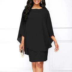 Women Mini Dress 2019 Summer Style Solid Color O-Neck Casual Loose Plus Size Dresses Vestidos Casual Beach Dress