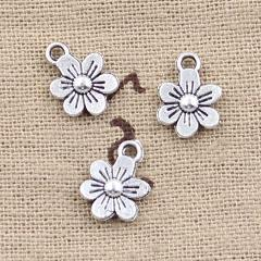 20pcs Charms double sided flower 12x9mm Antique Making pendant fit,Vintage Tibetan Silver,DIY Handmade Jewelry
