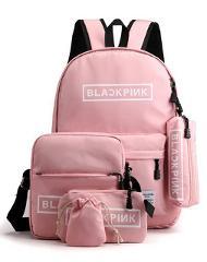 5 Piece Set Blackpink Backpack for Girls Teenage School Bags  Bagpack Women College Wind Leisure Back Pack Big Oxford Backbag