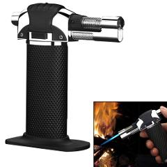 Butane Lighter Burning Electricity Lighter BBQ Brazing Gas Torch Gas Adjustable Flame Inflated Flame Gun Welding Outdoor Camping