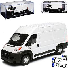 Greenlight Dodge Ram Promaster Transporter Box White Identical Construction for Fiat Ducato Citroen Jumper Peugeot Boxer 1/43 Model Car with or without Individual Number Plate