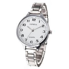 Geneva Luxury Brand Women Watches Crystal Stainless Steel Analog Quartz Wrist Watch Fashion Dress Men's Gold Watch Wholesales