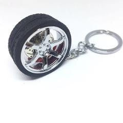 Hot Keychain Turbo Hub Car Keyring Wheel Rim Model Key Chain Keychain Wheel Tire Styling Auto Car Key Chain Keyring