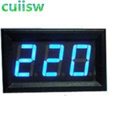 """AC 30-500V 0.56"""" LED Digital Voltmeter Voltage Meter Volt Instrument Tool 2 Wires Red Green Blue Display 110V 220V DIY 0.56 Inch"""