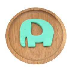 Baby Elephant Silicone Teethers Teething Teether Ring Pendant Necklace BPA Free DIY Baby Chew Toy Infant Gift 7 Colors