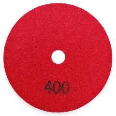 6Pcs 4 Inch/100Mm Grit #400 Diamond Dry Polishing Pad Granite Marble Ceramic Flexible Sanding Disc Stone Polisher Disc
