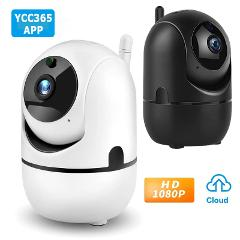 YCC365 1080P Cloud HD IP Camera WiFi Auto Tracking Camera Baby Monitor Night Vision Security Camera Home Surveillance Camera