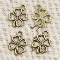 20pcs Charms luck irish four leaf clover 17x14mm Antique Making pendant fit,Vintage Tibetan Silver Bronze,DIY Handmade Jewelry