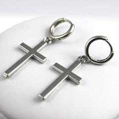 Women Fashion Punk Cross Pendant Cartilage Drop Dangle Earrings Jewelry