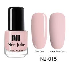 NEE JOLIE 3.5ml Solid Color Matte Nail Polish Colorful Black White Red Long Lasting Manicure Matte Nail Varnish DIY 82 Colors