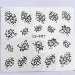 WUF 1pcs Hitoro Flower  Nail Stickers Water Transfer Decals Decoration Dream Cather Slider For Nail DIY Tips