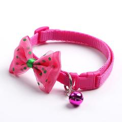 New Adjustable Cute Necktie Dog Cat Pet Collar Nylon Bell Kitten Candy Color Bow Tie Bowknot Likesome Collars