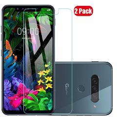 Voviqi Panzerglas Schutzfolie für LG G8s ThinQ, 9H verbesserte gehärtetes Glas Folie [Blasenfrei] [Anti-Fingerabdruck] Displayschutzfolie für LG G8s ThinQ, 2 Stück