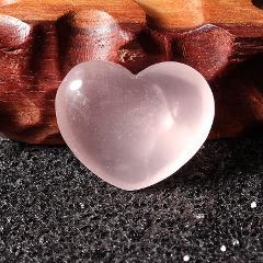 Rose Pink Crystal Quartz Stone Heart Shape Healing Gemstone Craft Home Wedding Party Office Decor Holiday Gift 25mm*25mm