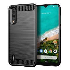 For Xiaomi Mi A3 Case Shockproof Brushed Carbon Fiber Soft Bumper Case Cover xiaomi A3 / A3 Lite Phone Fundas Coque Cases