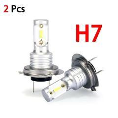 Hot Sale 360 Degree Beam Angle H7 LED Headlight Bulbs Conversion Kit Hi/Lo Beam 55W 8000LM 6000K Super Bright Wholesale CSV