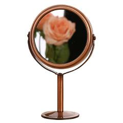 BlueZOO NEW Bronze Double Side Hairdressing Mirror Desk Makeup Mirror 1:2 Magnifying Function glass cosmetic mirror