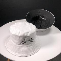 2019 Cotton Black and white letter embroidery Bucket Hat Fisherman Hat outdoor travel hat Sun Cap Hats for Men and Women 189