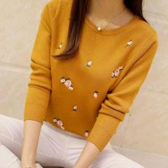 2019 fashion autumn sweater women's embroidery knitting winter women's sweater and Pullover women's warp knitting Pullover