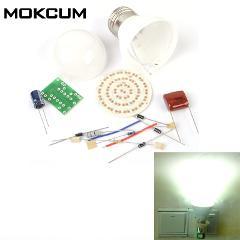 60 LEDs Energy-Saving Lamps DIY Kits Electronic Kit Electronin Fun 3.8W AC 85-277V PBT Flame Retardant Shell Led Bulb