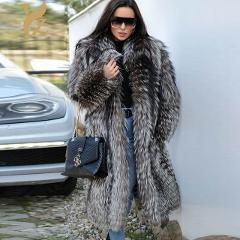 YZ.FURTURE Real Fox Fur Coat Winter Warm Fur Coats Real Fur Nature Fox Furs Jackets For Women Outerwear Winter Coats WomenTops